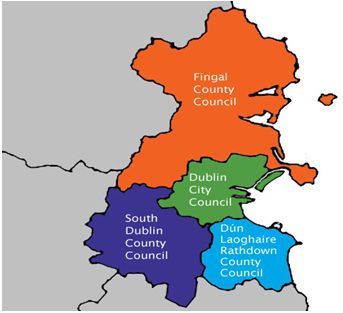 Figure 1. Four Dublin Counties